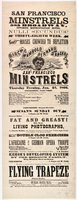 Birch, Wambold, Bernard & Backus, San Francisco Minstrels : Thursday evening, Jan. 25, 1866.