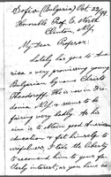 Letter from E. S. Yovcheff to Professor E. Worth, October 22, 1899