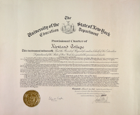 Provisional Charter of Kirkland College, 1965
