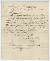 Letter written by James Eells to Joseph Kirkland from Westmoreland, New York on May 9, 1829
