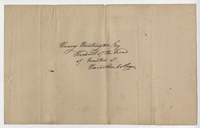 Letter written by Caleb Alexander to Henry Huntington from Paris, New York on July 22, 1812