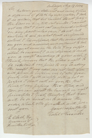 Letter written by Caleb Alexander to Erastus Clark from Onondaga, New York on August 17, 1813