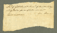 Asa Marvins receipt, October 13, 1810