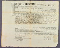 Indenture agreement between Dudley and Sarah Walsh and Leonis Van Vechten, November 15, 1809