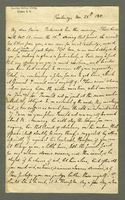 Letter written by E. Kirkland to John Kirkland from Cambridge, Massachusetts on November 25, 1811