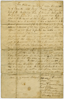 Agreement between Stockbridge Indians and John Sergeant, Jr. to  broker a land purchase in Indiana, December 12, 1819