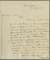 Union College [1827?]. To the Rev. Mr. Robinson, Germany.