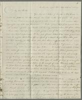 Southington, April 25th, 1829. Your two last letters of Jan. 30 & Feb. 13 were received, the former on the 31st March, the latter on the 17th April.