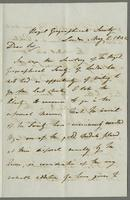 London, May 2, 1842. Rev. Edw. Robinson DD, Professor of Theology, Hamilton New York