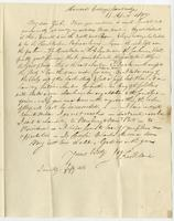 Cambridge Ms, April 15, 1817 by Albany. Miss Eliza Kirkland, Clinton, Oneida County, State N. York