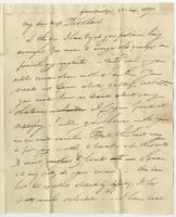 Cambridge Ms, Sept'r 16. Sept 15, 1817 by Albany. Miss Eliza Kirkland, Clinton, Oneida Co. S. N. York