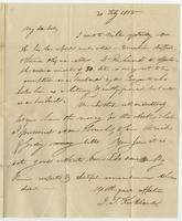 Cambridge Ms, Feb'y 20, 1818 by Albany. Miss Eliza Kirkland, Clinton, Oneida Co. N York