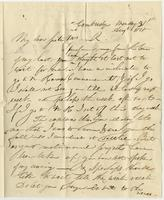 Aug. 31, 1818 by Albany. Miss E. Kirkland, Clinton, Oneida Co. N. York