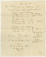 George Robinson to Edw. Robinson a/c. June 27, 1833