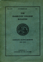 Image - A Hamilton College publications